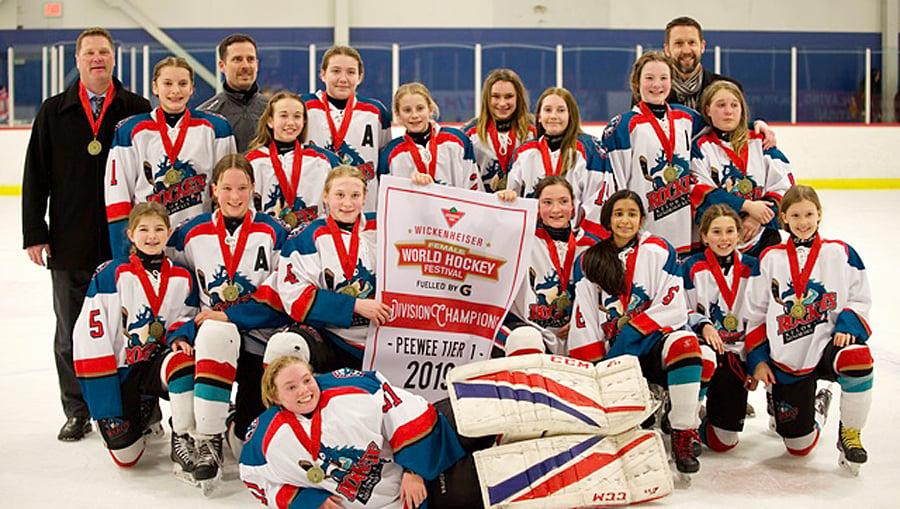 Peewee Girls Skate To Third Hockey Tournament Title Of The Season