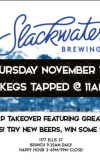 Tap Takeover ft. Slackwater Brewing