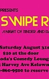 Haven Mattress Co presents Swipe Right a night of tinder and dating inspired comedy