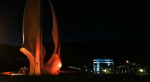 Kelowna's Sails turning orange for Thanksgiving to highlight homelessness and mental health
