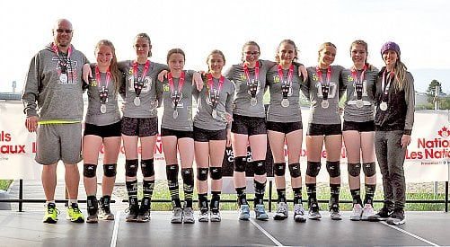Kelowna's T2 under-14 girls volley to silver at Nationals