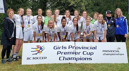 Thompson Okanagan girls savour journey to BC Soccer Premier Cup